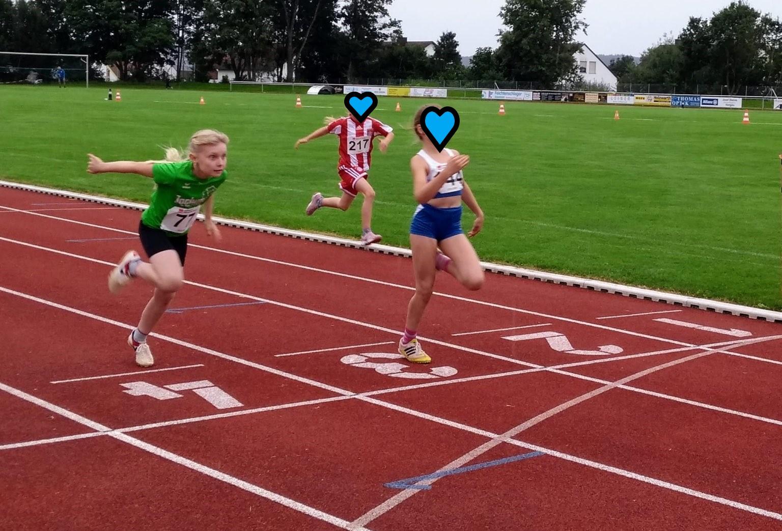 Ziel im Fokus: Emilia über 50m