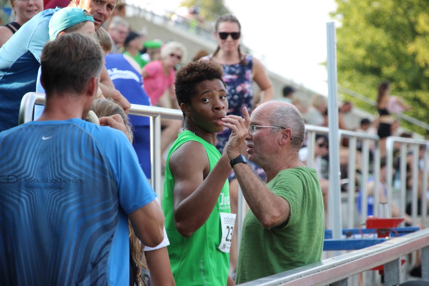 Emmanuel mit Trainer Franz
