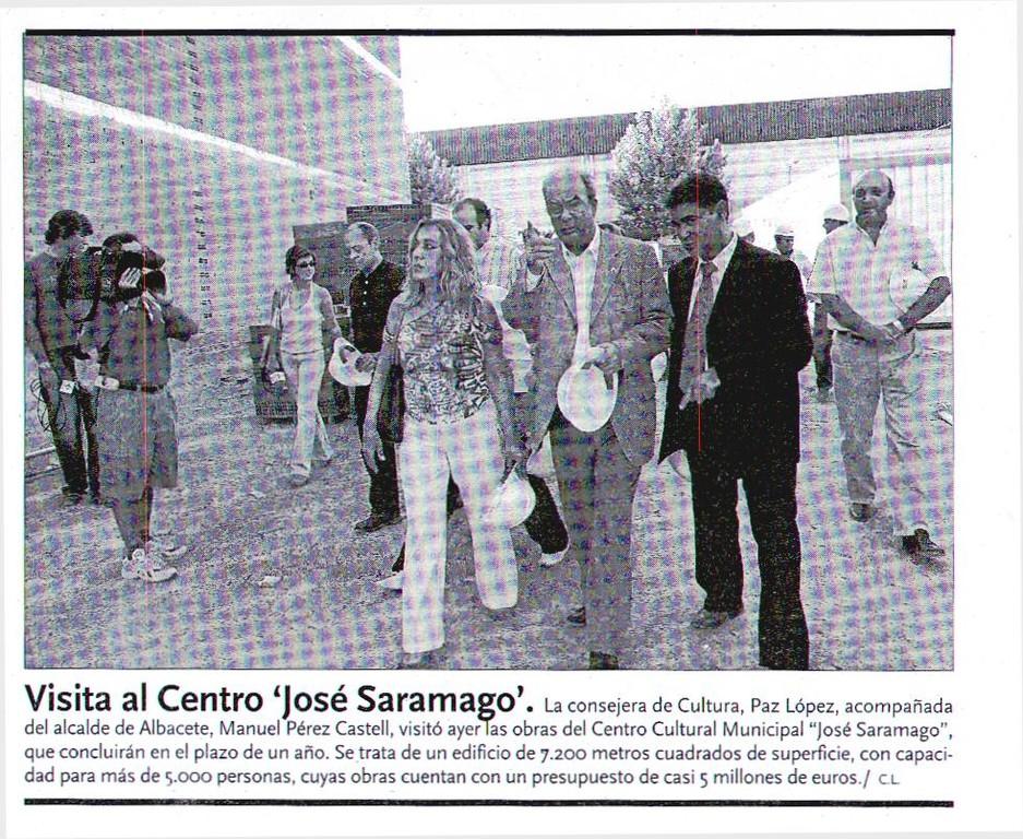 Visita Casa Cultura. Septiembre 2004. LA TRIBUNA DE ALBACETE
