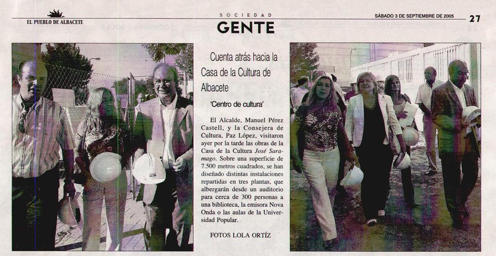 Visita a Casa Cultura. Septiembre 2004. EL PUEBLO DE ALBACETE