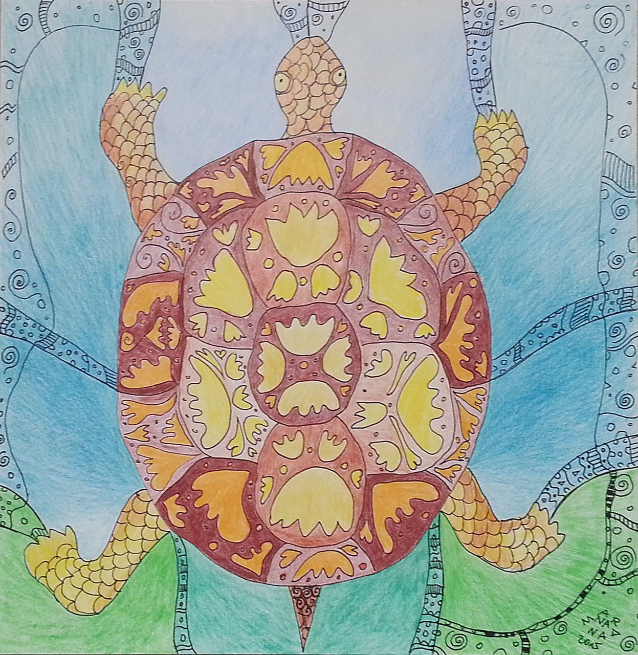 Illustration - Schildkröte