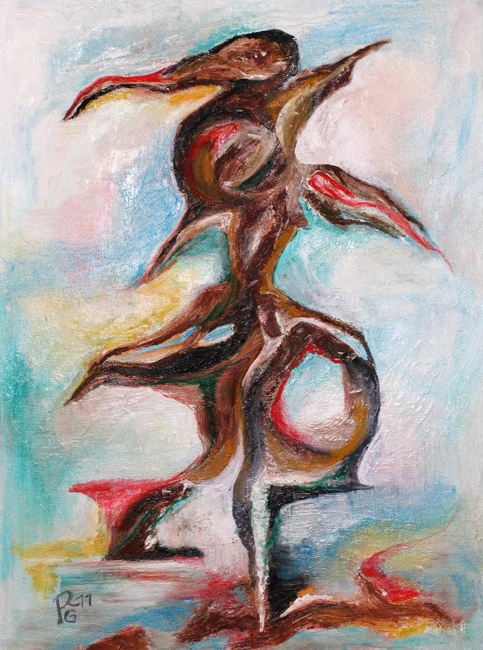 Vogelbaum, Öl auf Leinwand, 40 x 30 cm