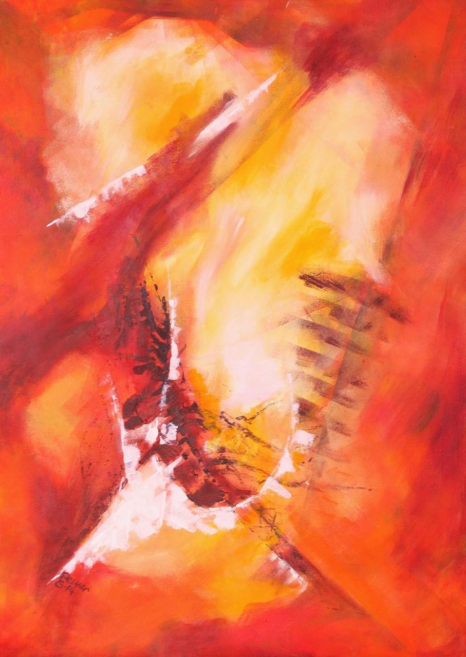 Variation in rot 2, Acryl auf Leinwand, 70 x50 cm