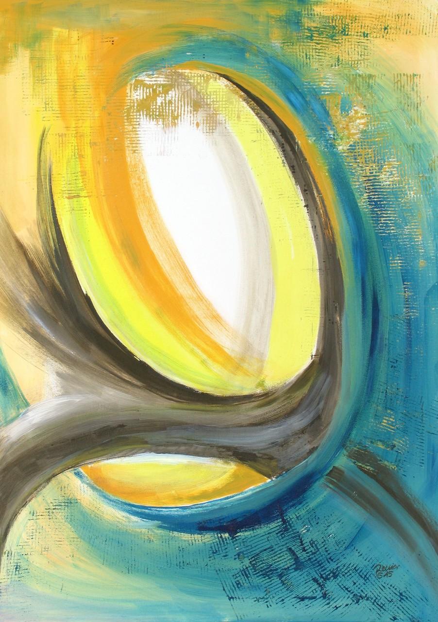Durchsicht, Acryl auf Leinwand, 70 x 50 cm
