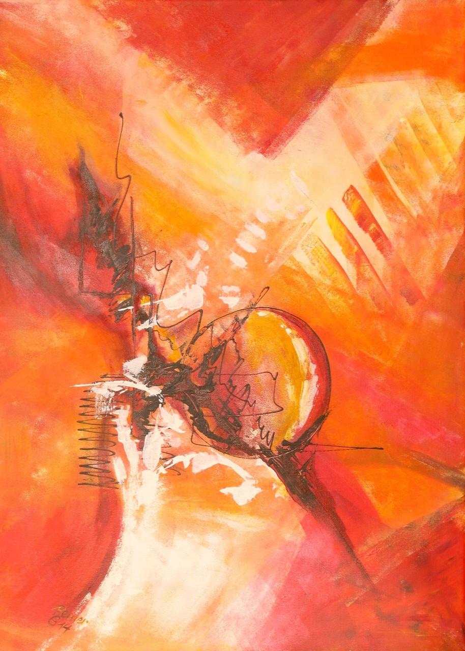 Variation in rot 3, Acryl auf Leinwand, 70 x 50 cm