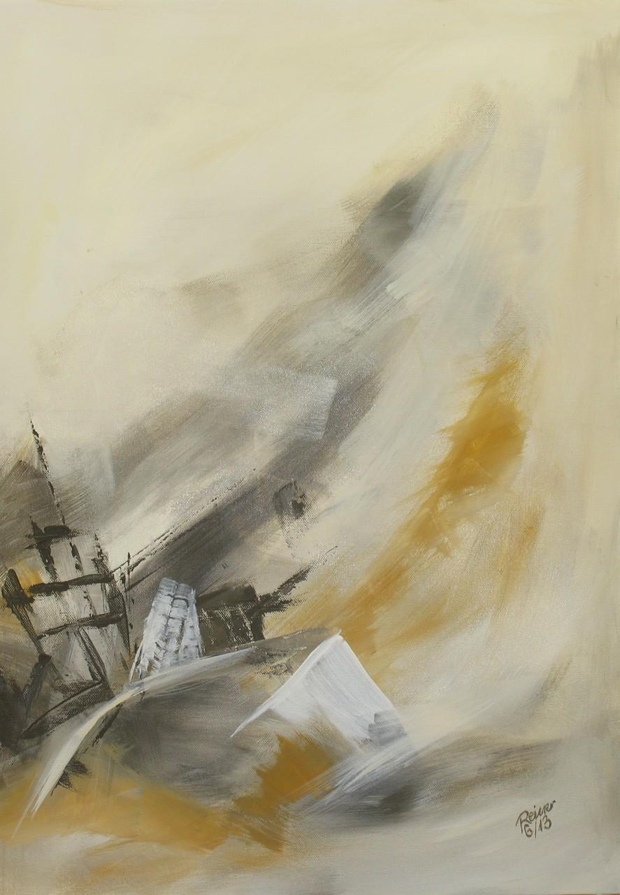 Erdrutsch 2, Acryl auf Leinwand, 70 x 50 cm