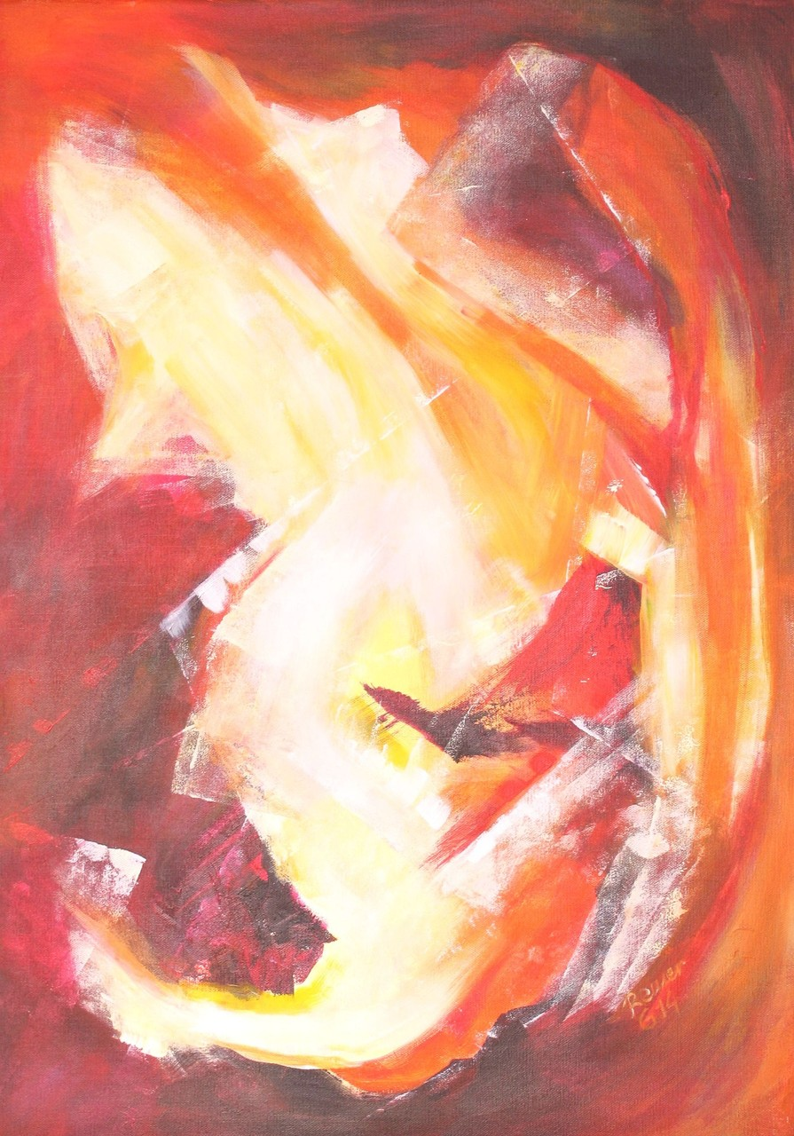 Variation in rot 1, Acryl auf Leinwand, 70 x 50 cm