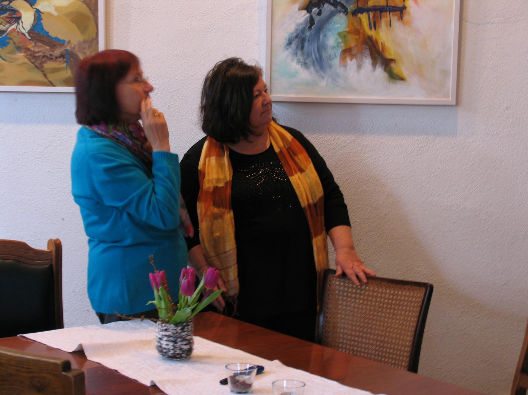 Frau Fehrenbach und Gast
