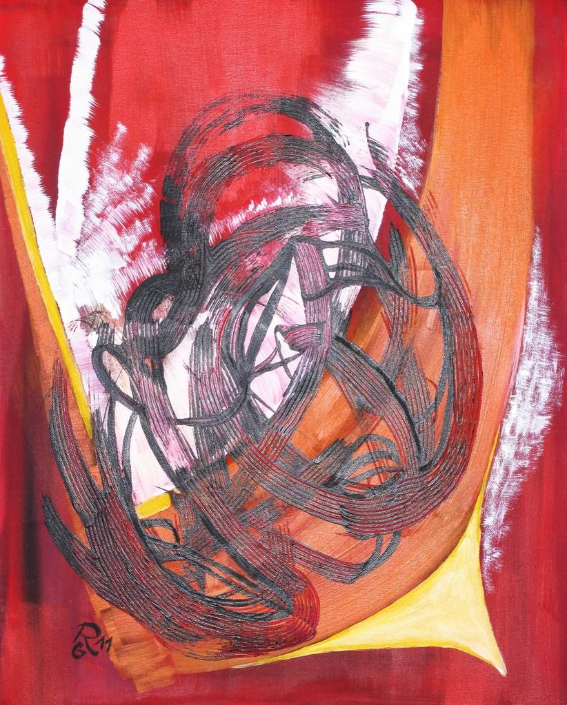Schwarzer Wirbel, Acryl auf Leinwand, 50 x 40 cm