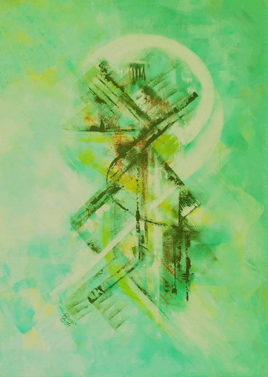Frühlingserwachen 1, Acryl auf Leinwand, 70 x 50 cm