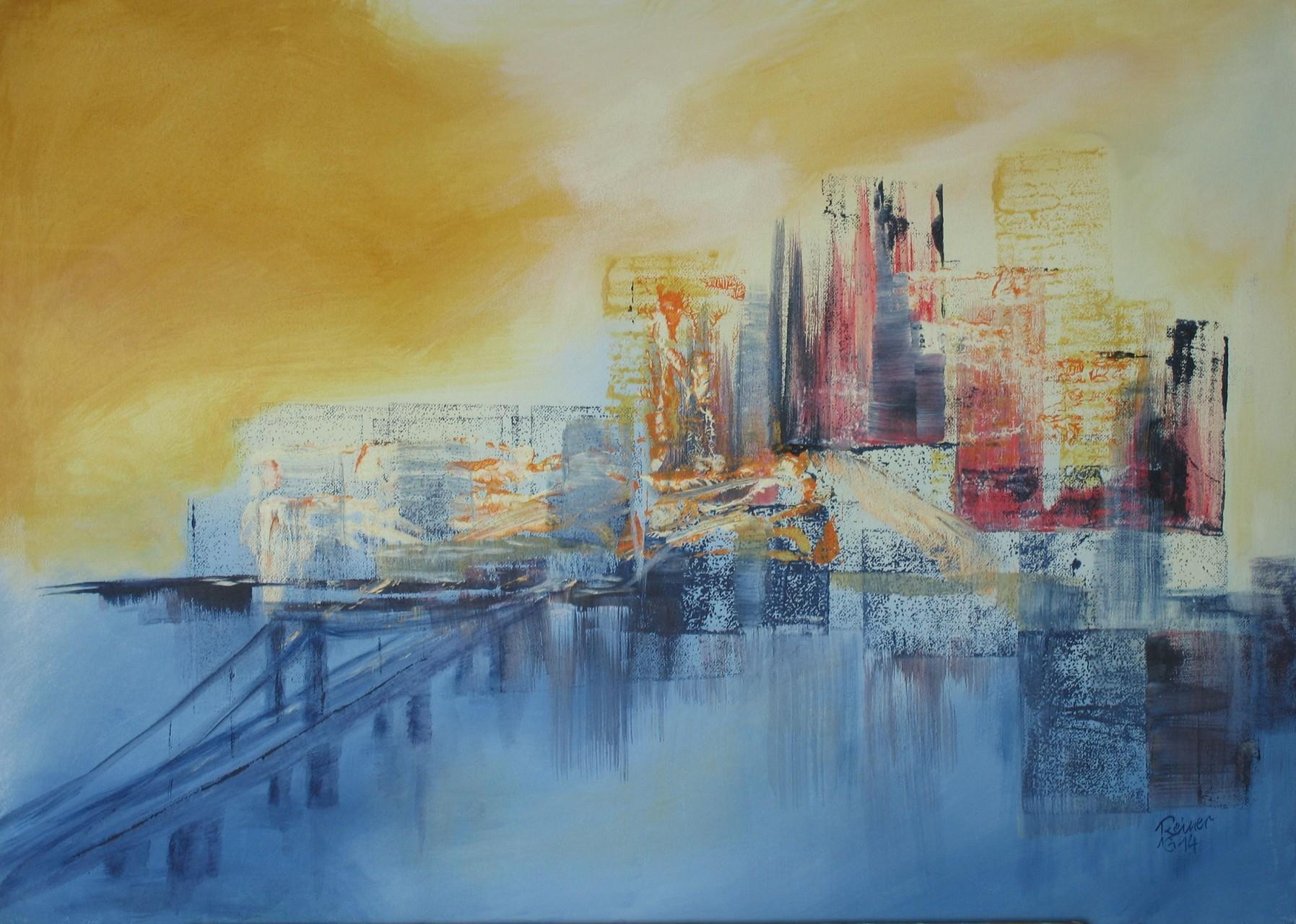 Stadtimpression, Acryl auf Leinwand, 50 x 70 cm