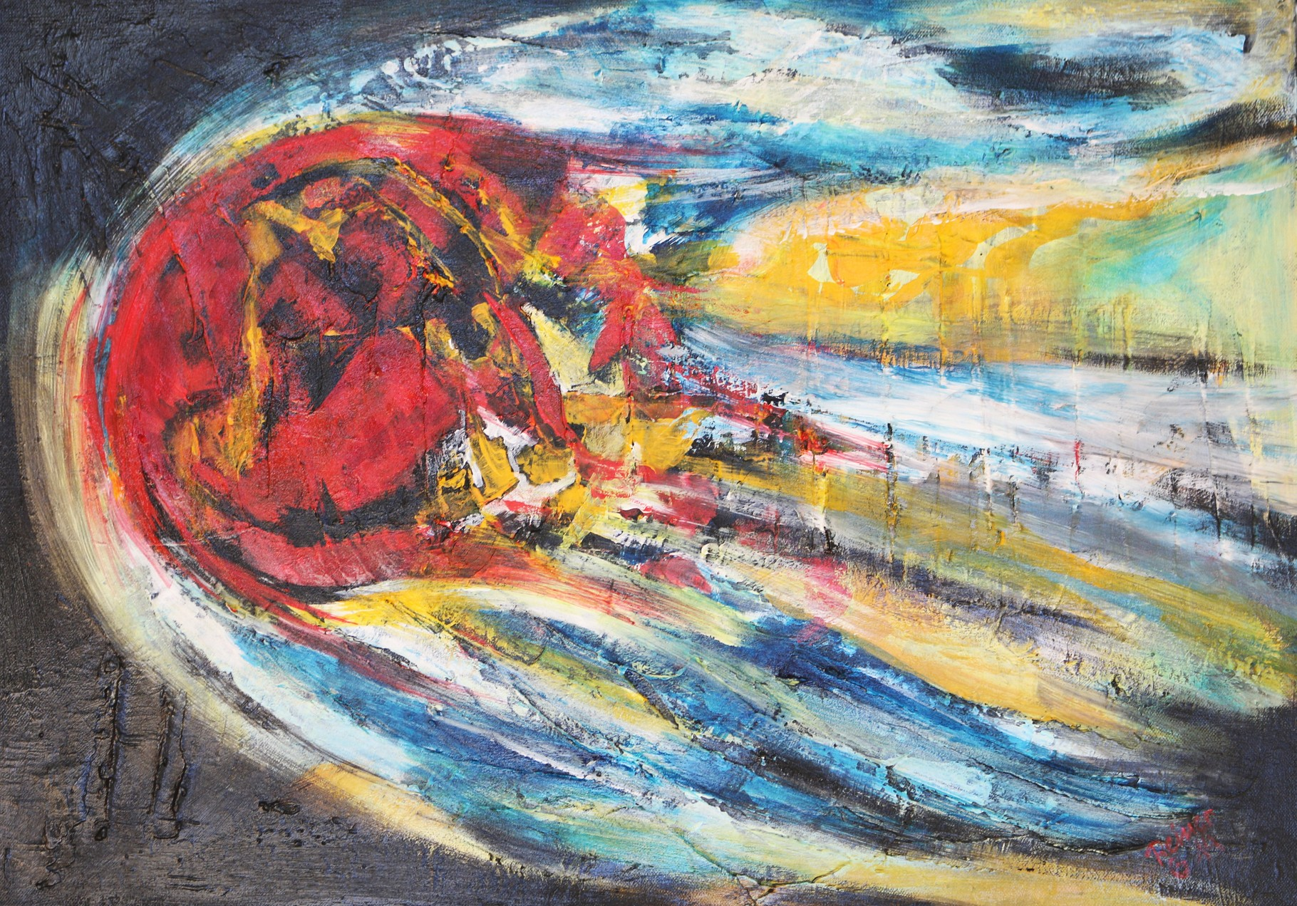 Komet, Oel auf Leinwand, 70 x 50 cm