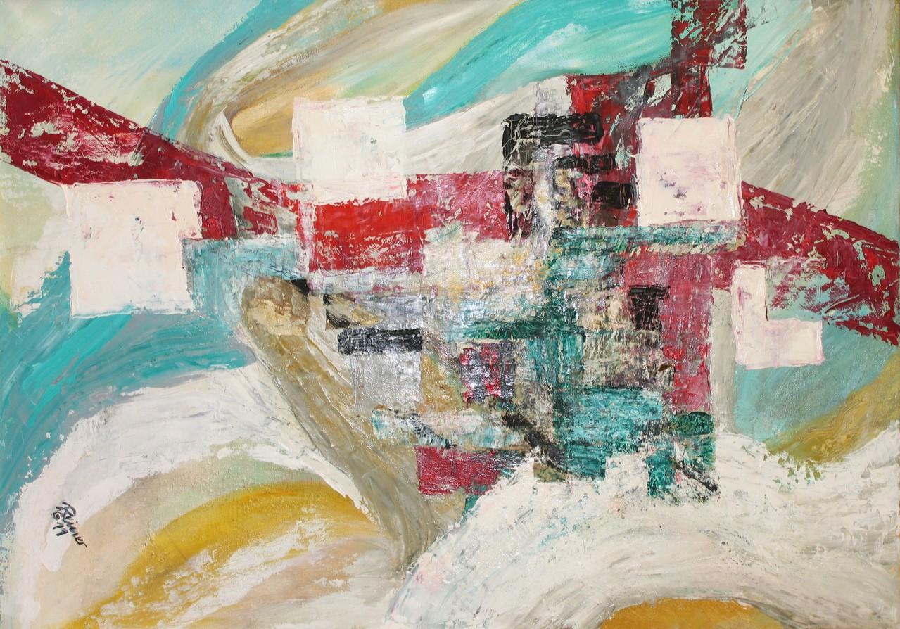Vogelsperpektive, Öl auf Leinwand, 70 x 50 cm