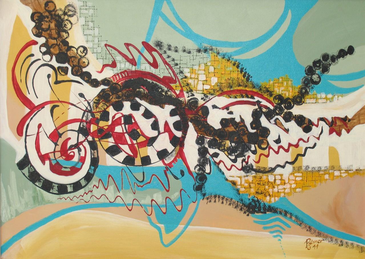 Goteado,, Acryl auf Leinwand, 50 x 70 cm