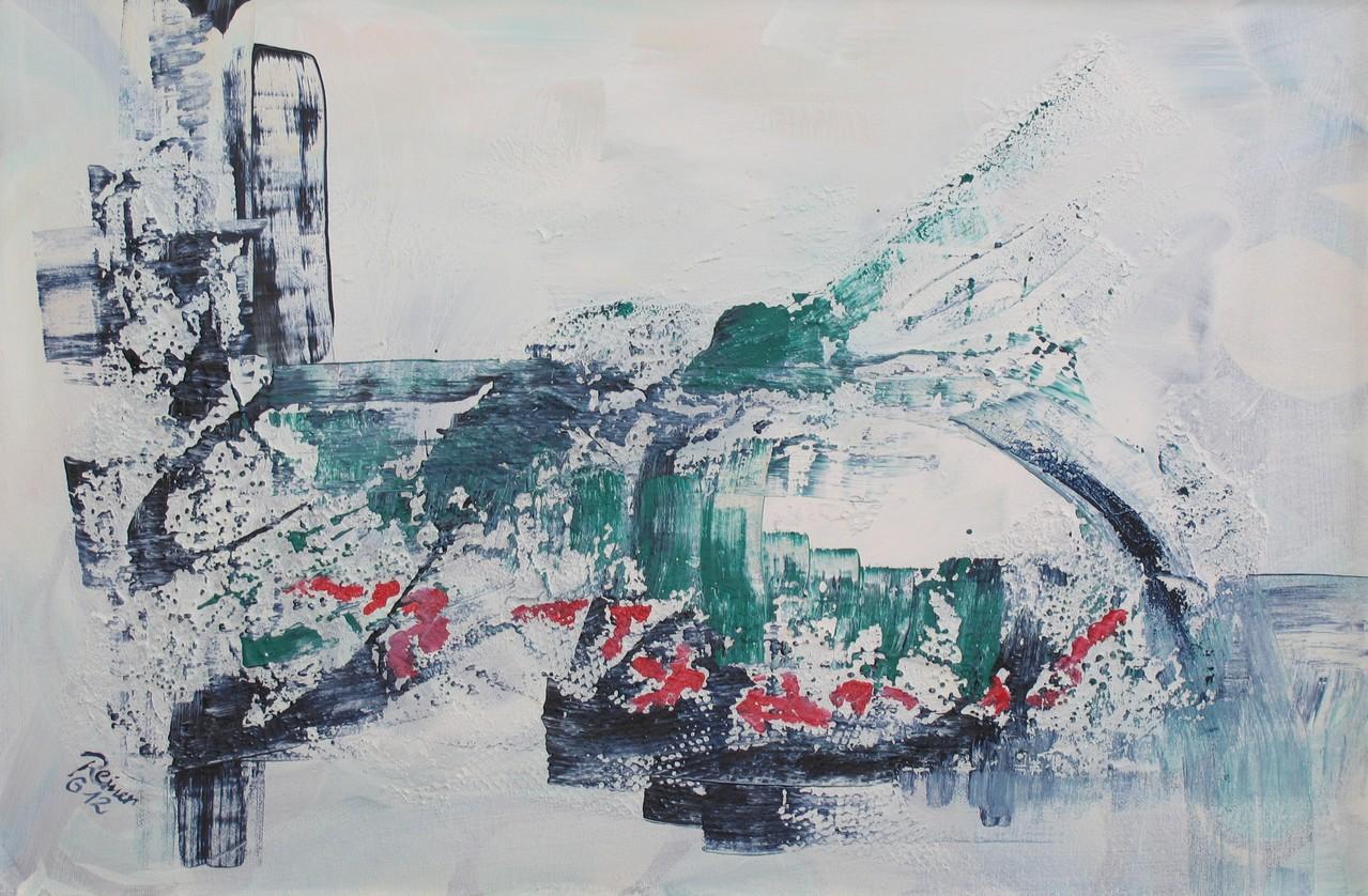 Am Wasser 2, Acryl auf Leinwand, 60 x 40 cm