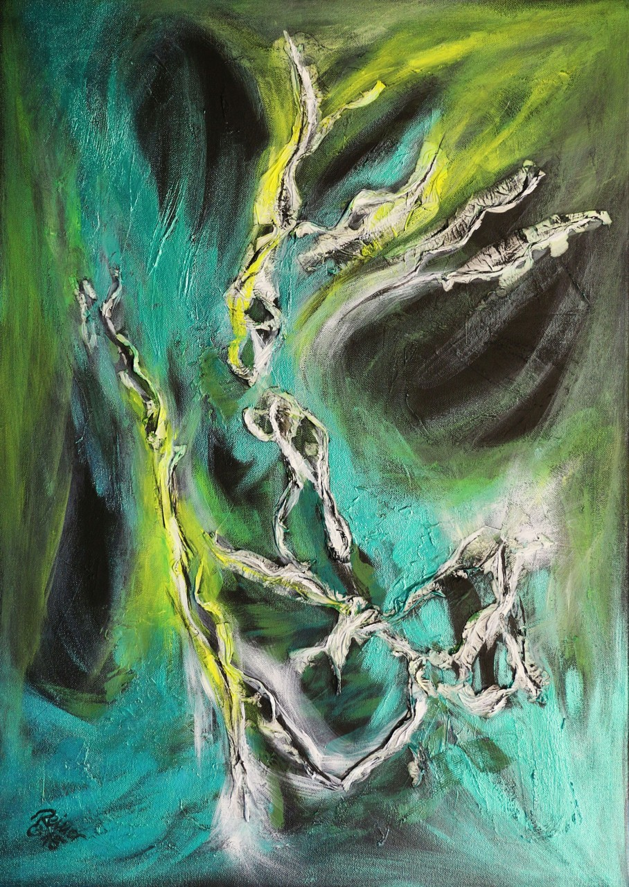 Formentanz 1, Acryl, Vlies auf Leinwand  70 x 50 cm