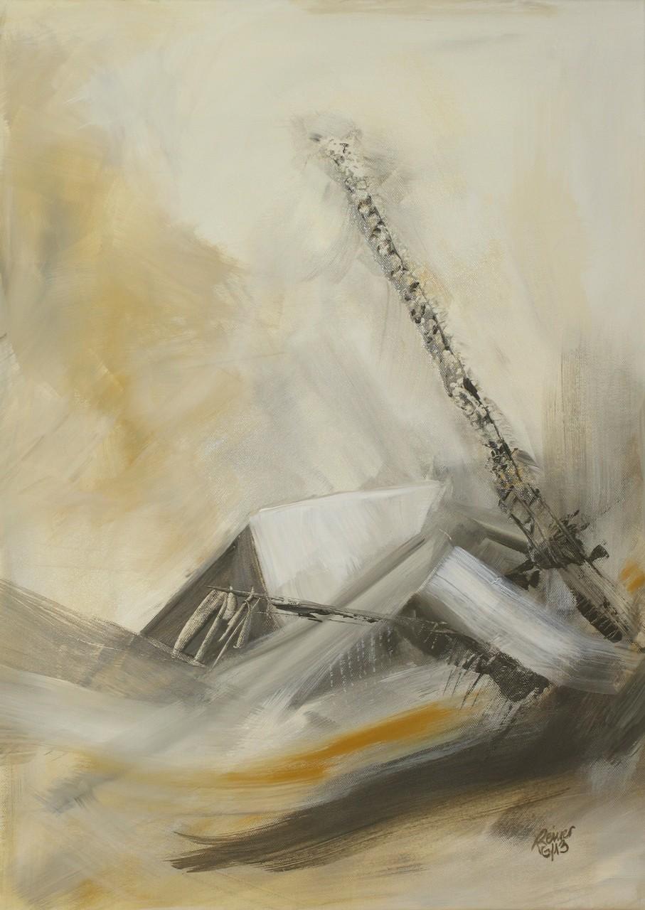 Erdrutsch 1, Acryl auf Leinwand, 70 x 50 cm