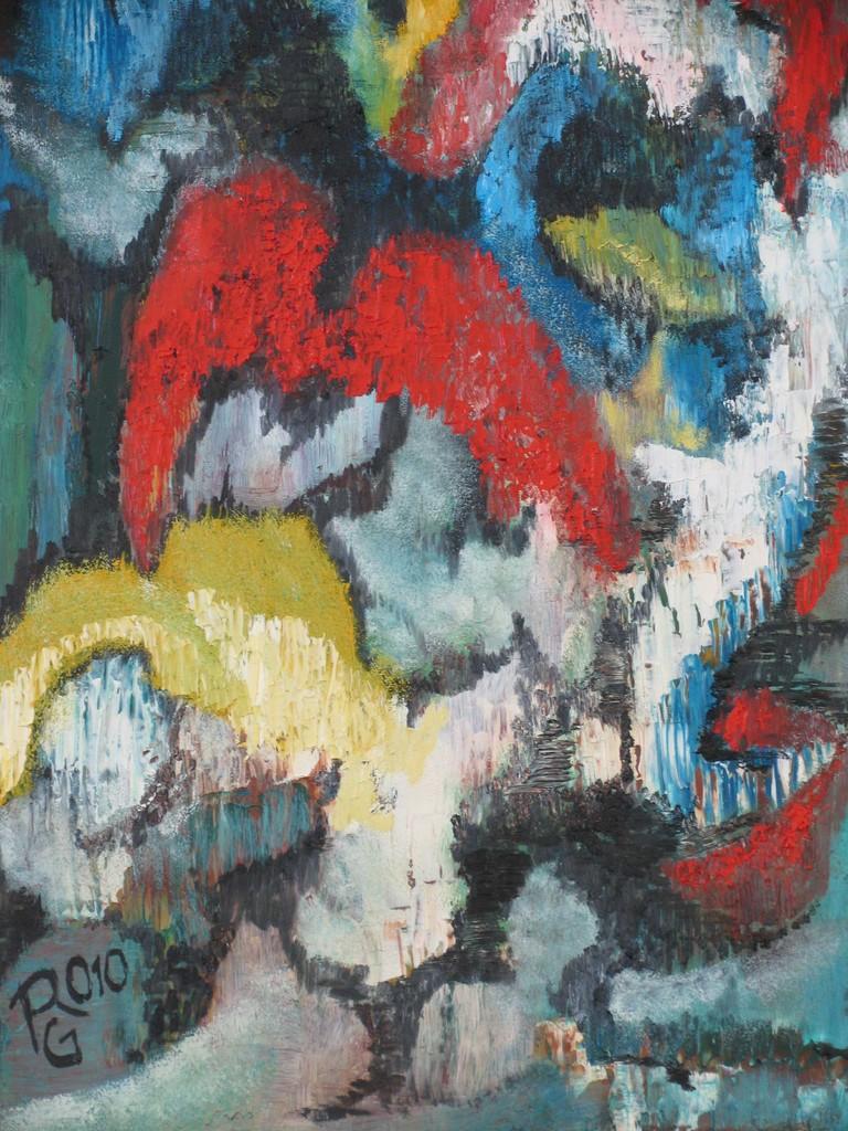 o.T., Öl auf Malplatte,40 x 30 cm