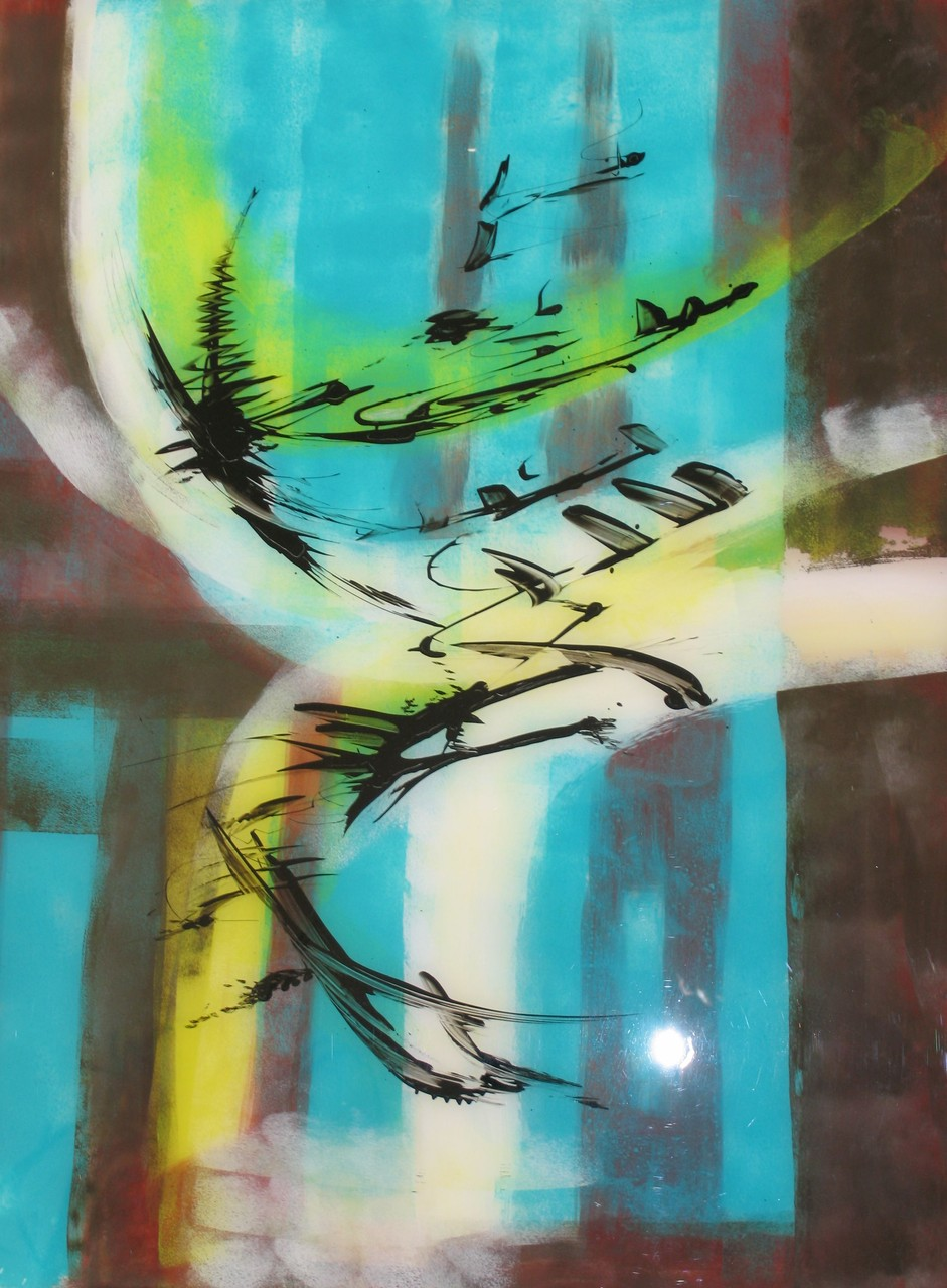 o.T. 1, Acryl hinter Acrylglas, 80 x 60 cm