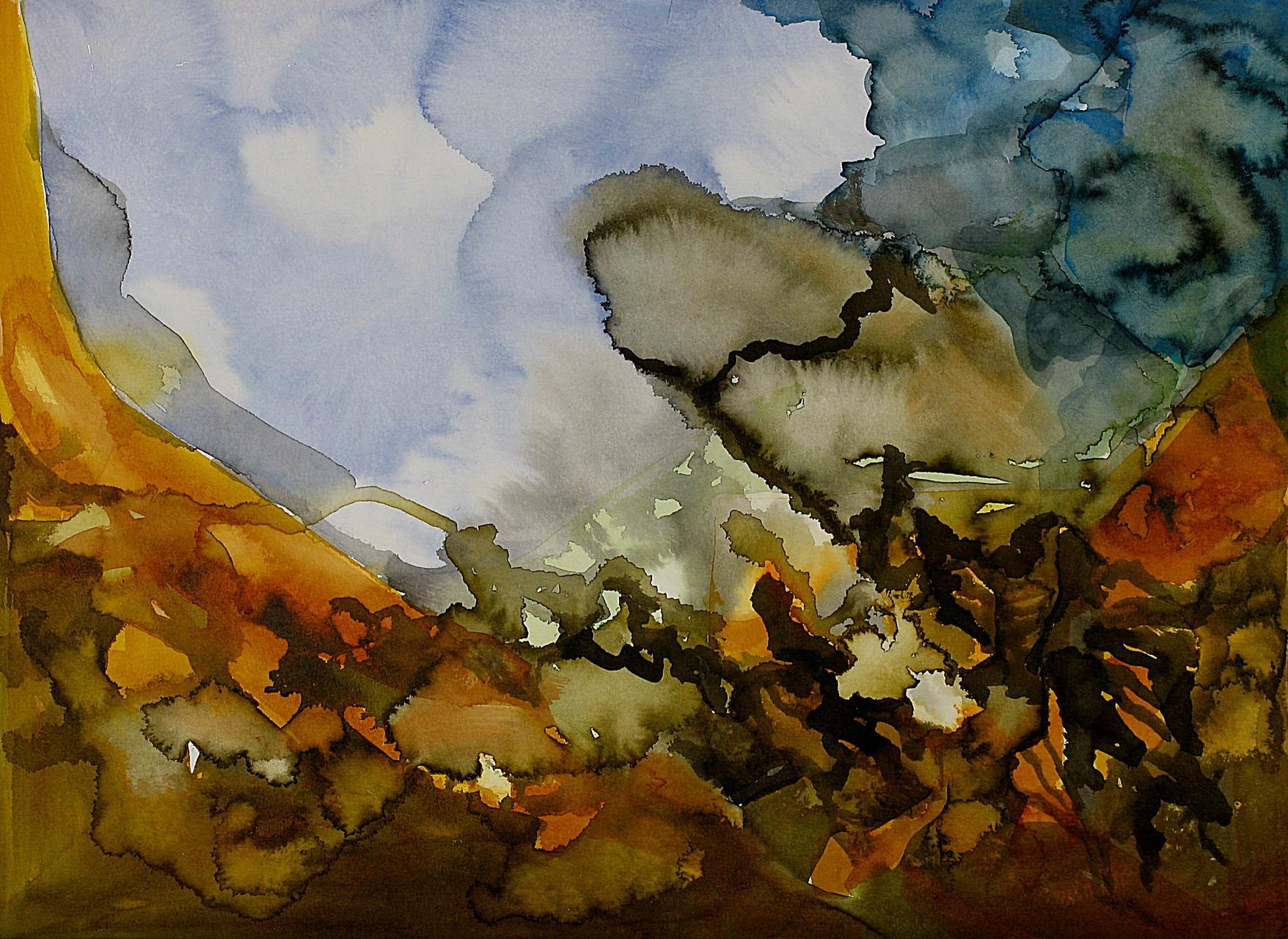 Randzone, Tusche auf Aquarellpapier, 36 x 48 cm