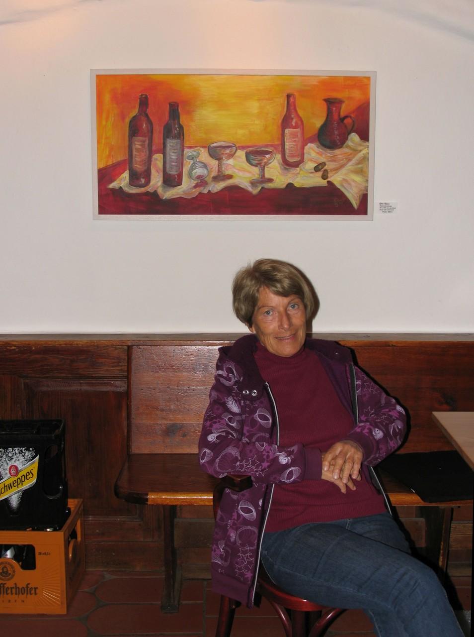 Die Künstlerin von Weingelage