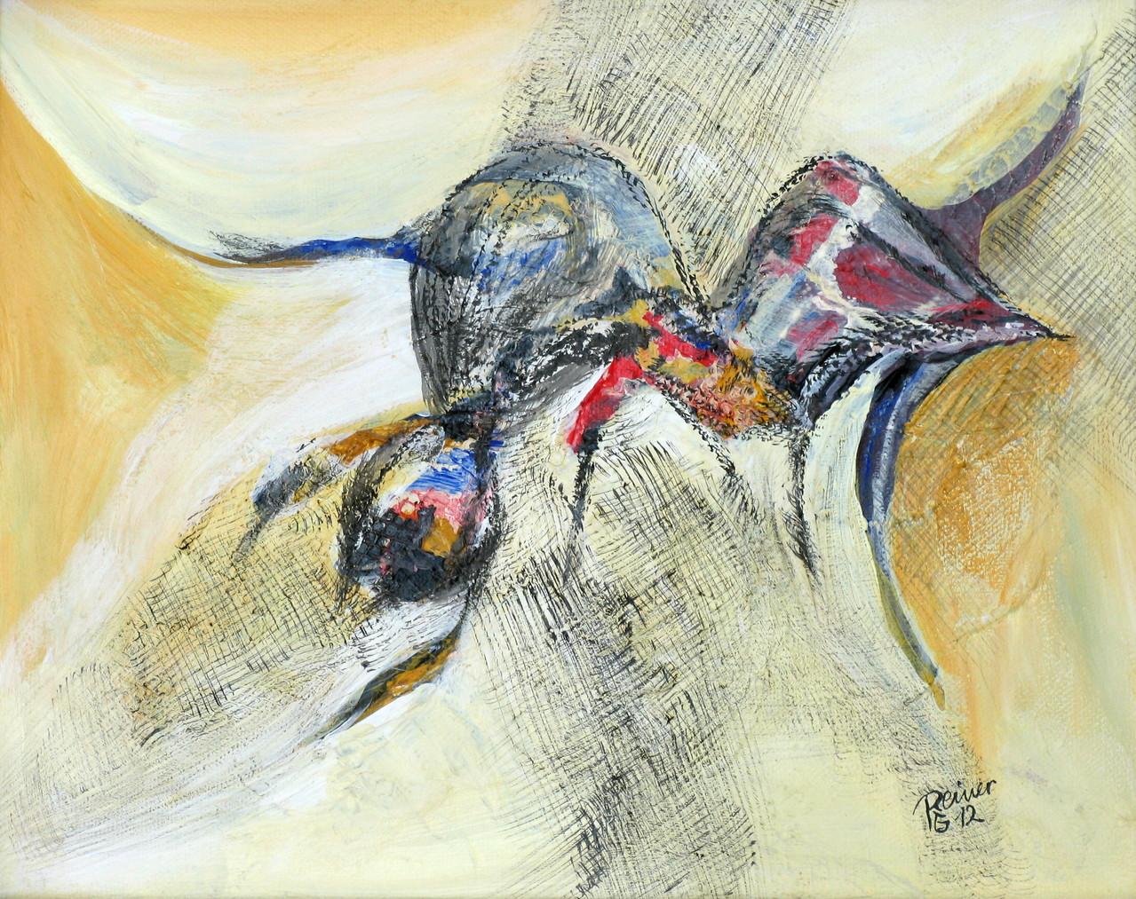 o.T., Acryl auf Leinwand, 24 x 30 cm