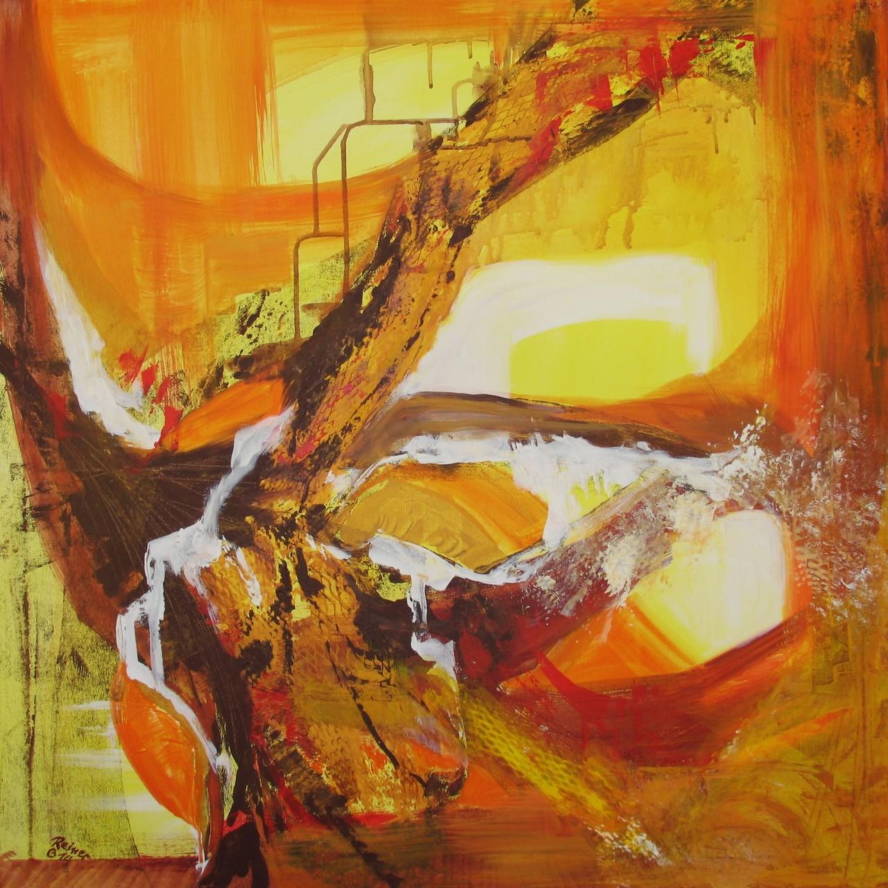 Traumpfade, Acryl auf Leinwand, 80 x 80 cm