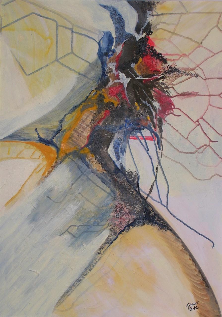 Im Fluss,  Acryl auf Leinwand,  70 x  50 cm
