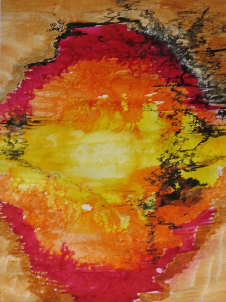 Corona, Tusche auf Papier, 50 x 40 cm