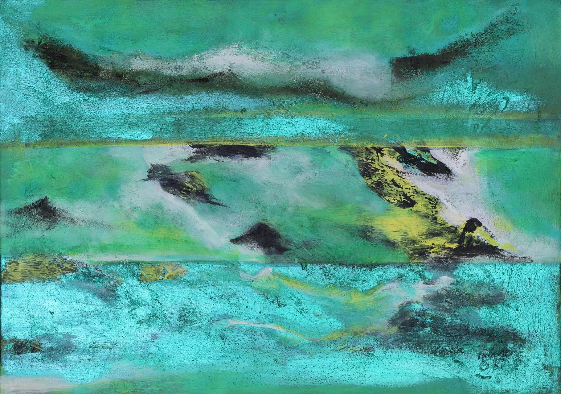 3 Ansichten, Arcyl, Sand auf Leinwand, 50 x 70 cm