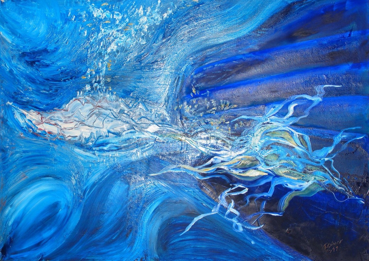Tiefsee, Öl auf Leinwand, 70 x 50 cm
