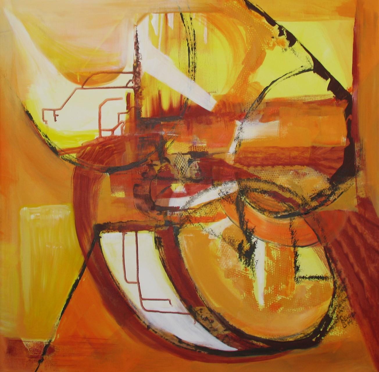 Kreisverkehr, Acryl auf Leinwand, 80 x 80 cm