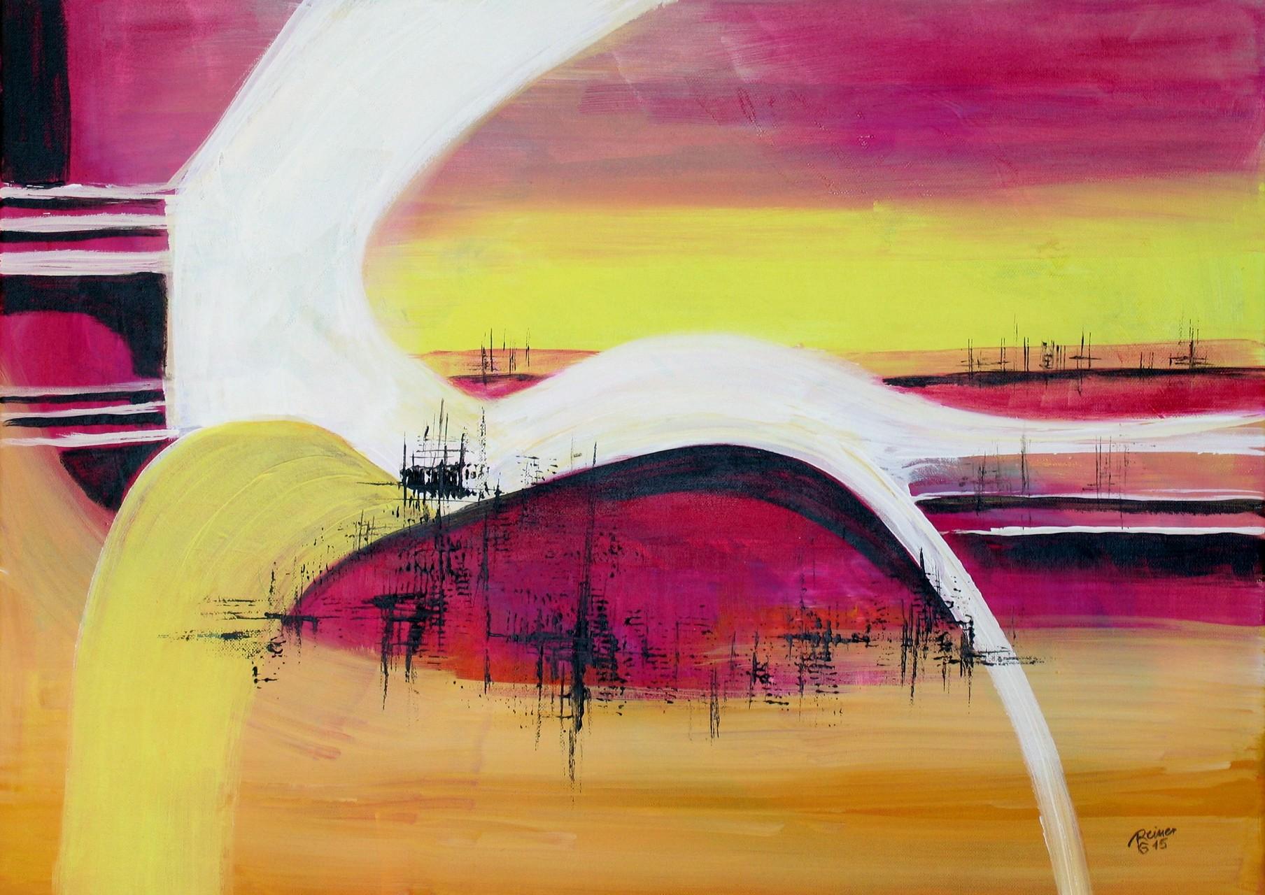 Horizont, Acryl auf Leinwand, 50 x 70 cm