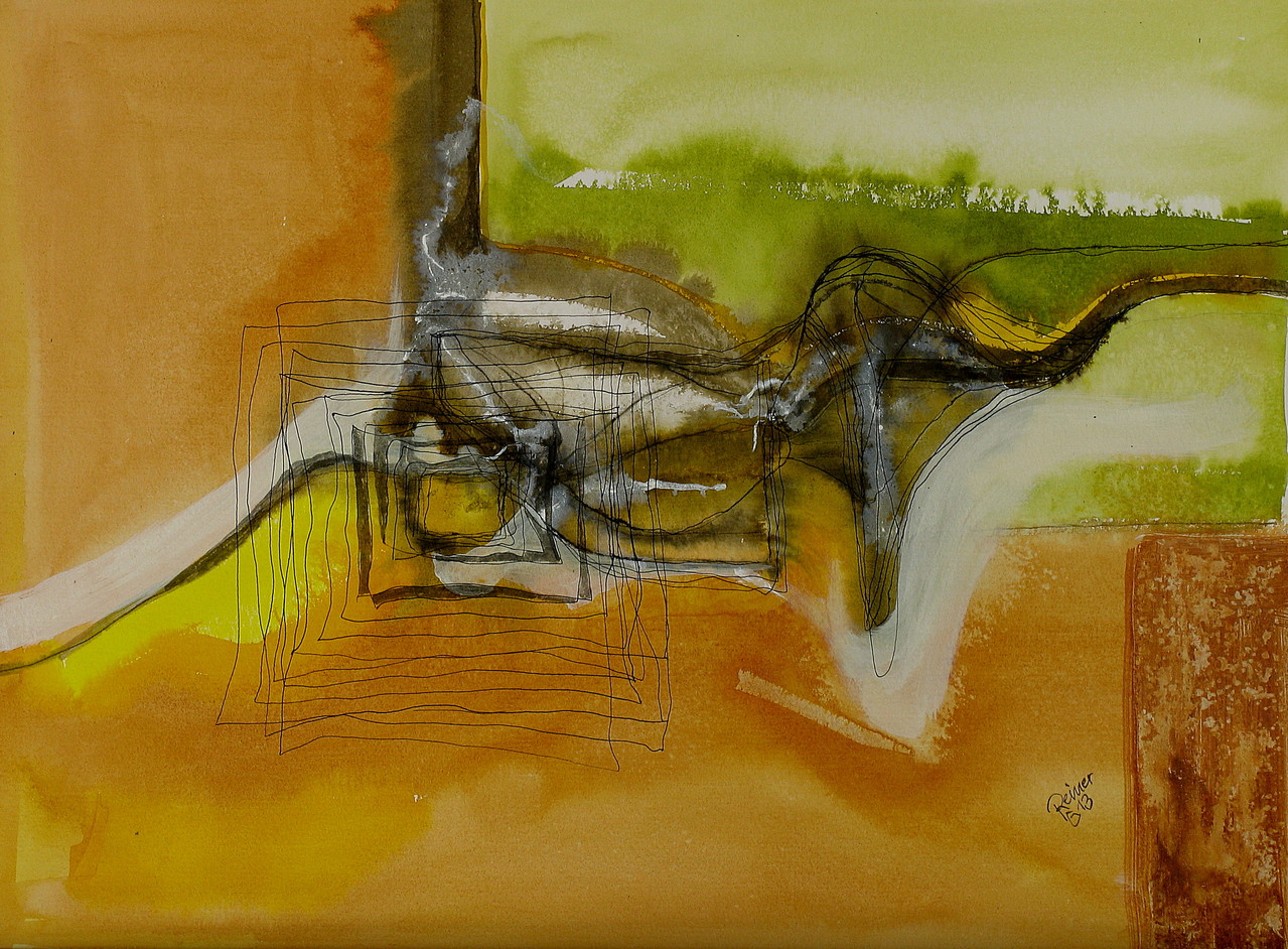 Aushub, Tusche auf Papier, 36 x 48 cm