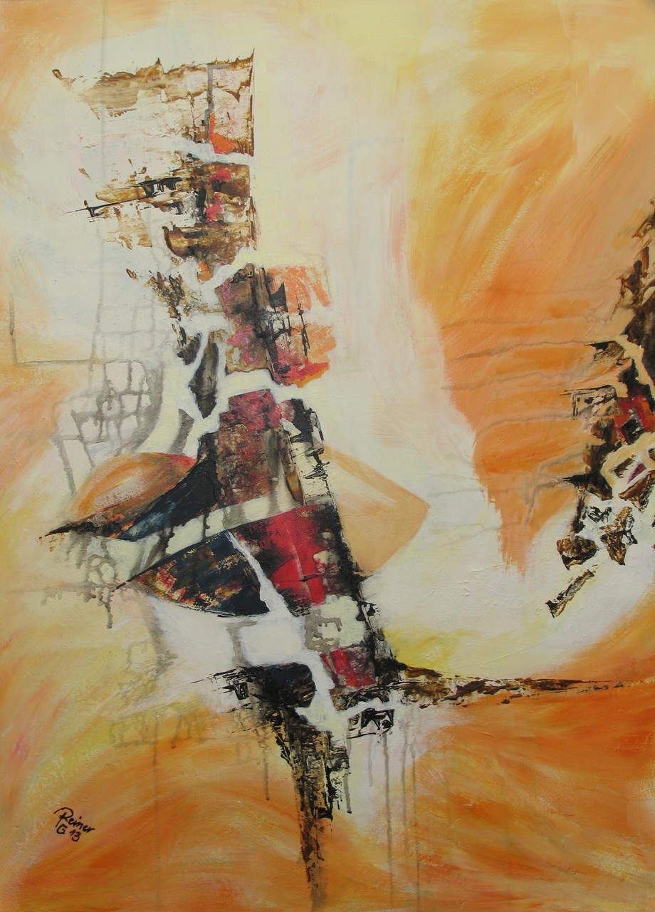 Fragmente, Acryl auf Holz, 80 x 60 cm