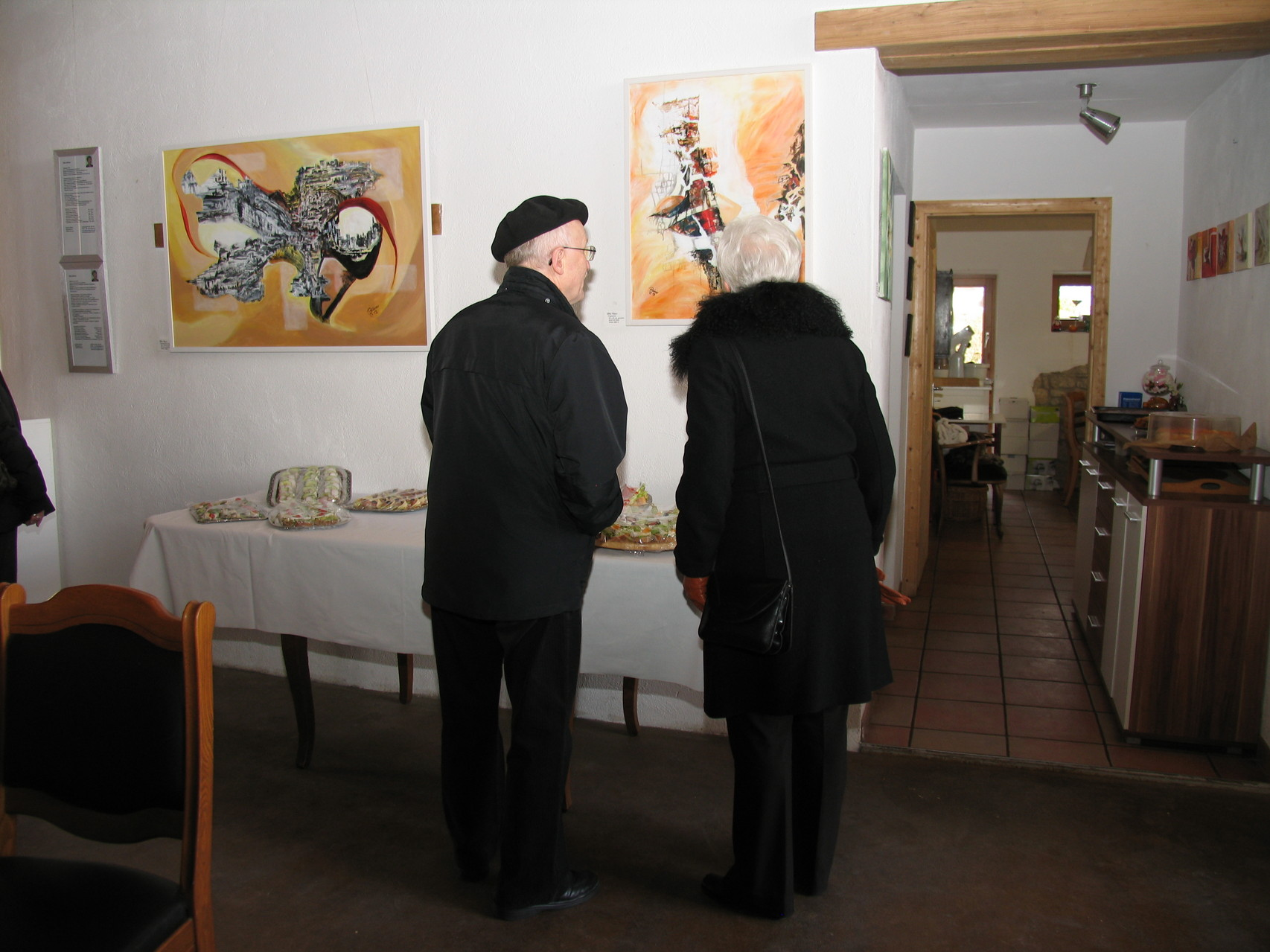 Erste Besucher