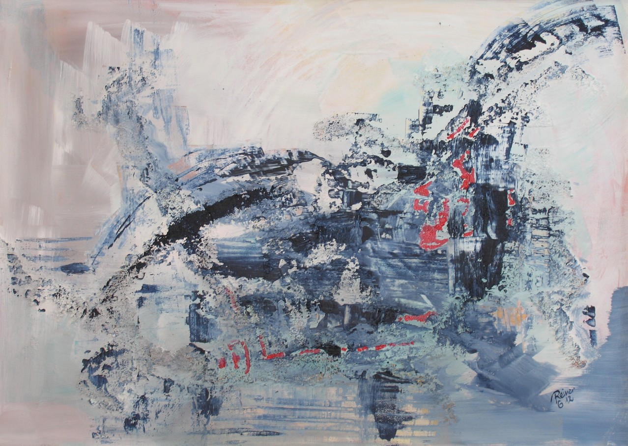 Am Wasser 1, Acryl auf Leinwand, 50 x 70 cm
