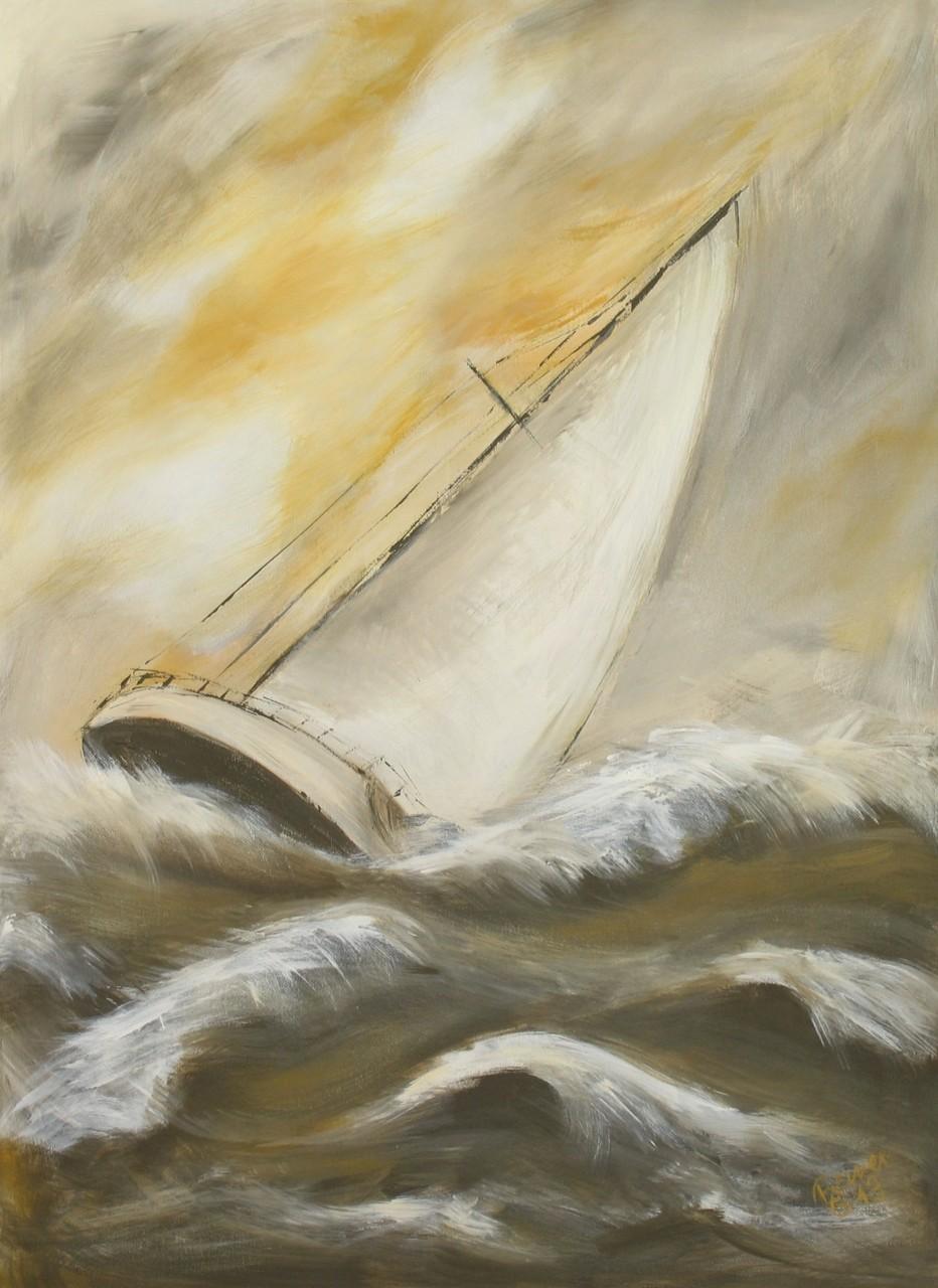 Sturm, Acryl auf Leinwand, 70 x 50 cm