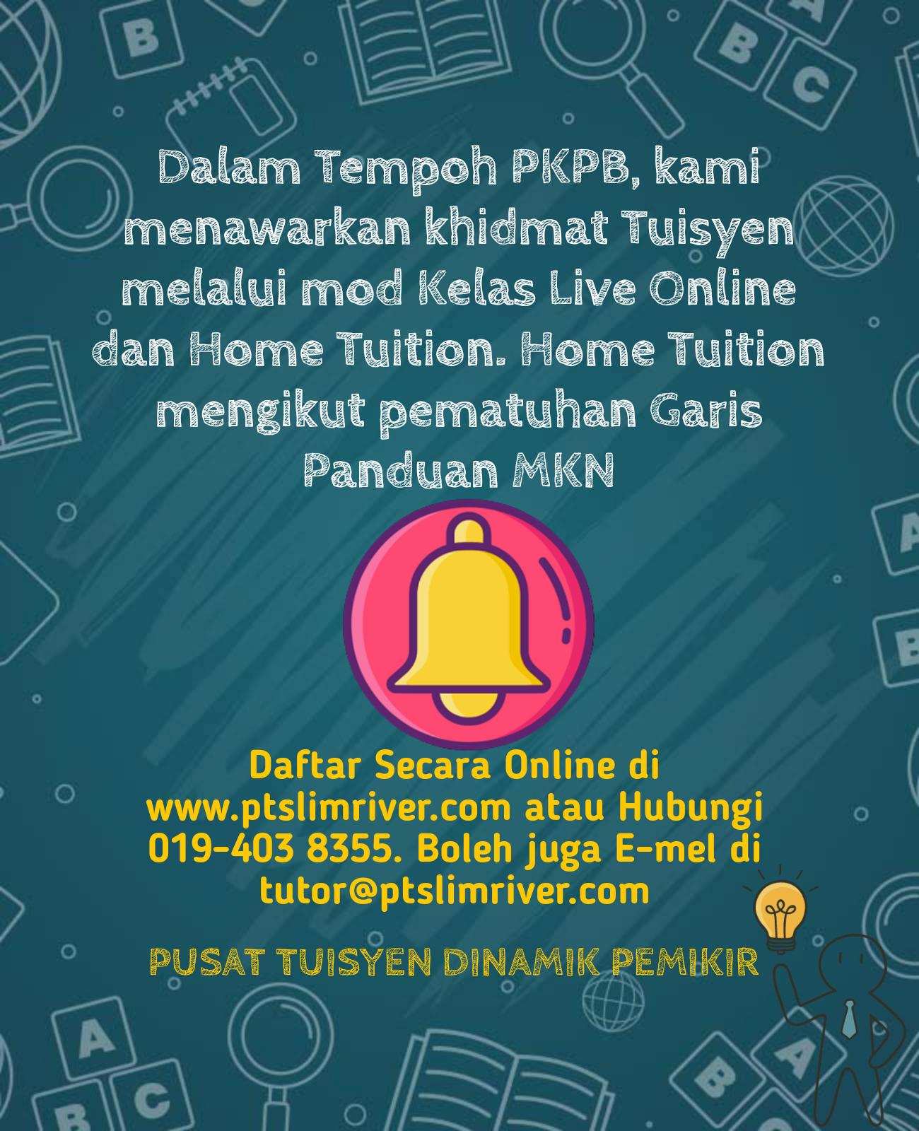 Kelas Mod Live Online dan Home Tuition