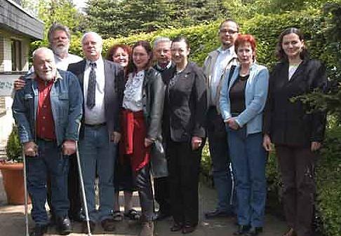 "Gruppenbild der Teilnehmerguppe an der ersten ""Academia Masonica"""