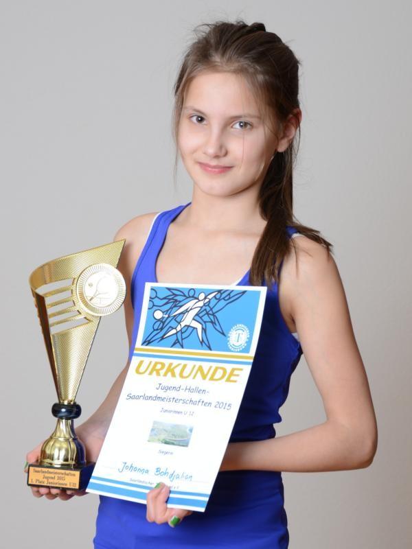 Johanna Bohdjalian - Hallensaarlandmeisterin 2015 in der Alterklasse U12