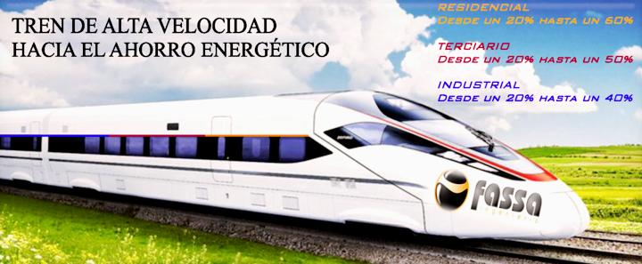 Tren de Alta velocidad hacia el ahorro energético