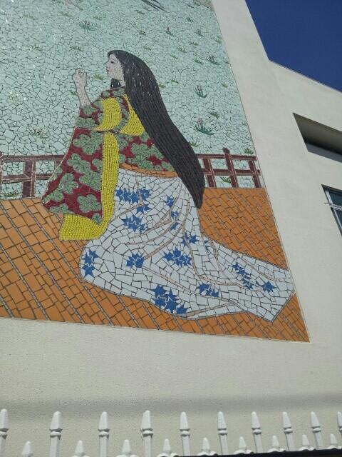 八幡中学校の壁画