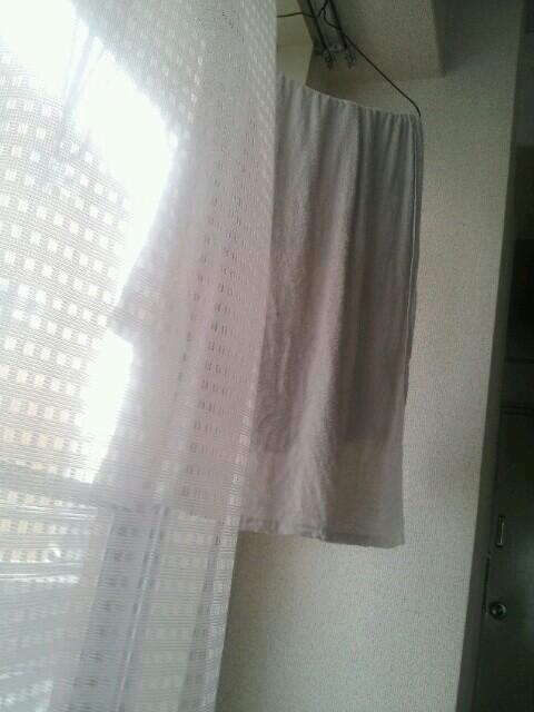 窓際のバスタオル