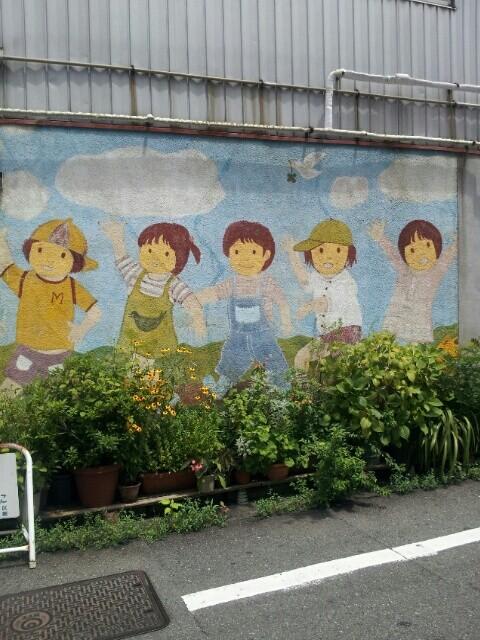 壁画の子供たち