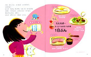 ポプラ社 えいようのひみつがわかる! 食育えほん2「からだをつくるあかのたべもの」2010年4月発行