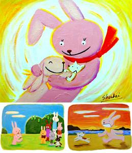 NHK総合TVドラマ 「ルームシェアの女」主人公(イラストレーター)の描くイラストを制作 。2005年1月10日より放送。第5~6週目に放送使用。DVD化。