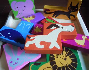 ベネッセコーポレーション どうぶつ図形パズル 木製パズル 商品 2012