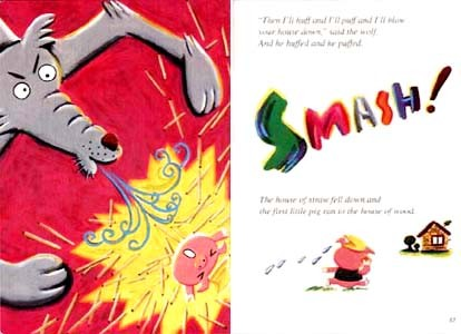 ECC教育研究所 教材「STORY BOOK」The Three Little Pigs 三匹のこぶた 2001