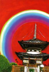 べっぴんさんの愛染まつり 「愛染まつり」は大阪三大夏祭りのひとつ、 浴衣姿のべっぴんさんが大勢集まる女性の祭り。 ひとあし早く、来る夏を告げる。 愛敬開運を授けてくださる、 愛染さん(勝鬘院・愛染堂)の御本尊。 燃えるように真っ赤に染まった全身と その手に持たれた弓矢を使い、 人と人、心と心のご縁を結ぶ愛染明王。 良縁成就を願う、べっぴんさん、 気持ちも塞ぐ長雨に、心なごます紫陽花の 日に日に変わる彩りを楽しむ。 ひと雨ごとに白、青、紫、淡紅と 染まる色味が変わる花に似て、 電話のひとつで、べっぴんさんの